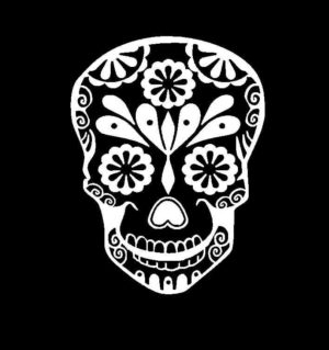 Sugar Skull Vinyl Decal Sticker