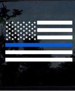 Blue lives Matter Sticker – Police lives Matter American Flag Decal2