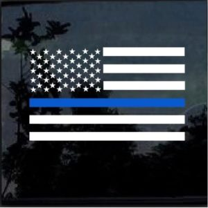 Blue lives Matter Sticker – Police lives Matter American Flag Decal2