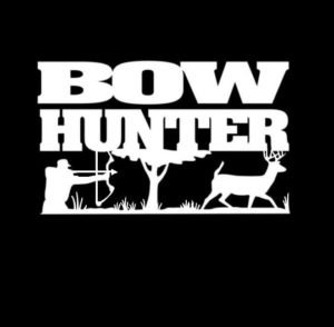 Bow Hunter Buck Scene Hunting Vinyl Decal Sticker