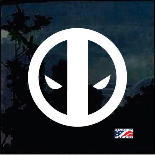 Deadpool eyes window decal sticker