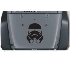 jeep stormtrooper hood decal Sticker
