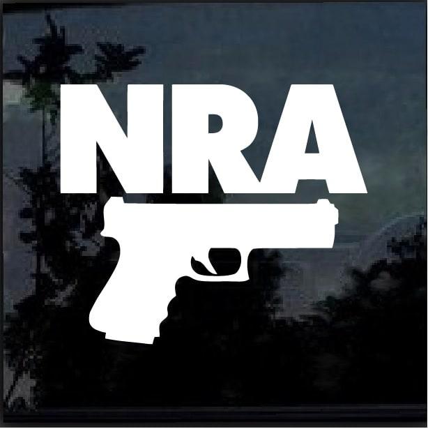 Nra Gun Window Decal Sticker Custom Sticker Shop