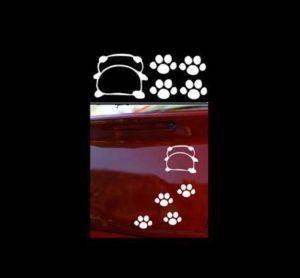 Panda Footprints Vinyl Decal Stickers