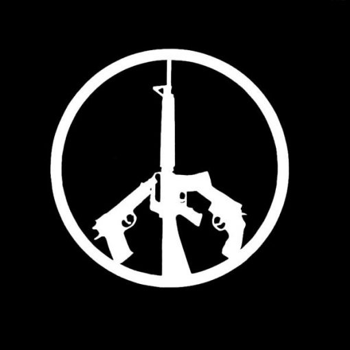 Guns Peace Symbol Vinyl Decal Stickers