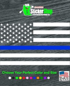 police lives matter decal sticker back the blue