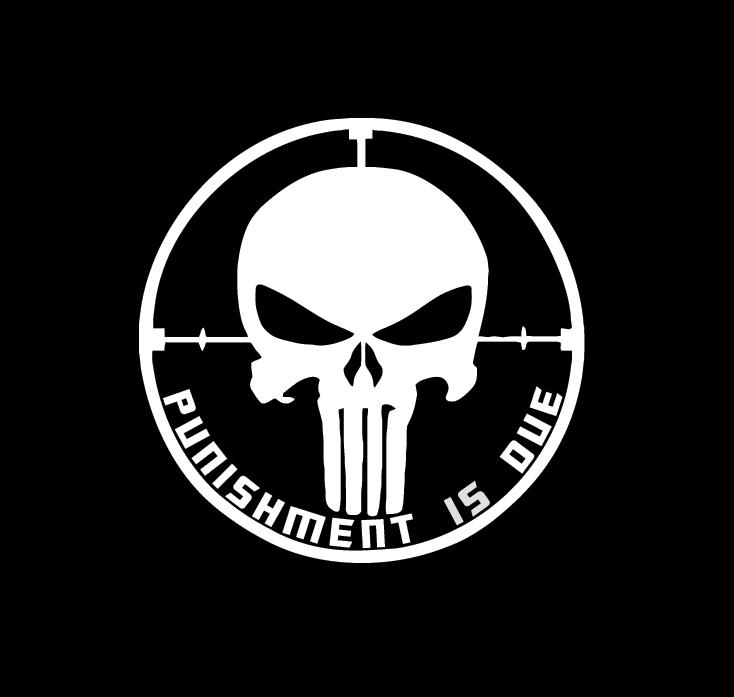 Punisher Punishment is due Vinyl Decal Stickers