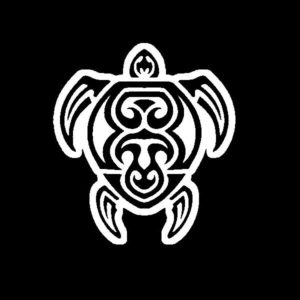 Tribal Turtle Vinyl Decal Stickers