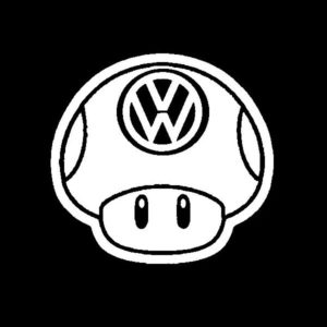 VW Mushroom JDM Vinyl Decal Stickers