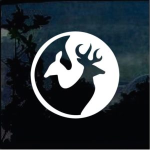 yin yang deer hunter decal
