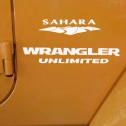 Jeep sahara wrangler unlimited decal set