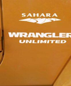 Jeep sahara wrangler unlimited decal set