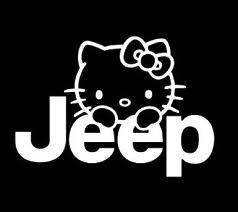 Jeep Hello Kitty Vinyl Decal Sticker