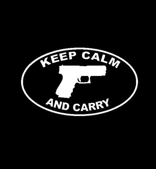 Keep Calm and Carry Oval Vinyl Decal Stickers
