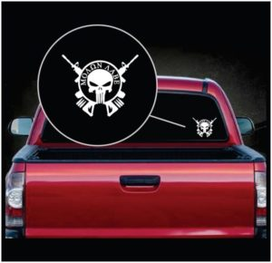 molon labe punisher round decal sticker