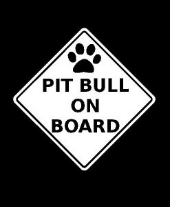 Pitbull On Board Pit Bull Vinyl Decal Stickers