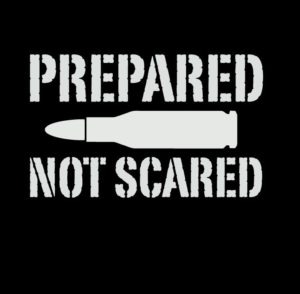 Prepared Not Scared Bullet Vinyl Decal Sticker