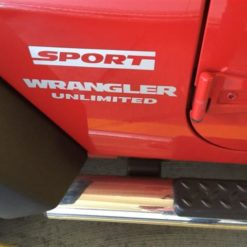 Jeep wrangler Sport Unlimited Fender Decal set