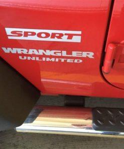 Jeep wrangler Sport Unlimited Fender Decal set