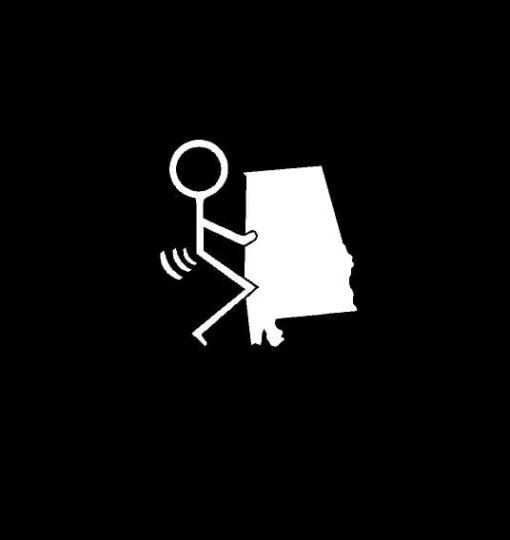 Fuck Alabama State Vinyl Decal Stickers