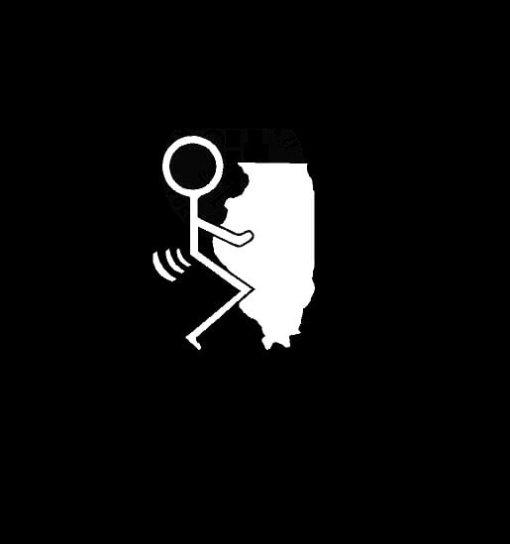 Fuck Illinois State Vinyl Decal Stickers