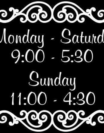 Store hours 02 (Custom)