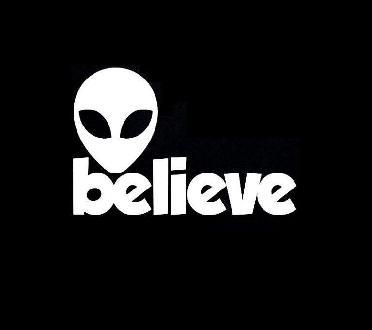 Alien Believe Vinyl Decal Stickers