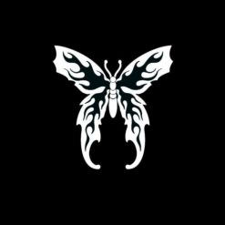 Butterfly Flame Wings Vinyl Decal Stickers