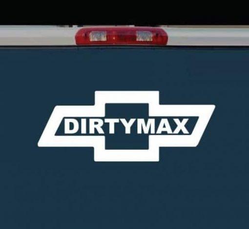 Chevy Dirtymax Bowtie Vinyl Decal Stickers