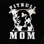 Pitbull Pit Bull MOM Decal - Dog Stickers