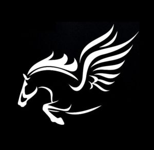 Winged Flying Horse Vinyl Decal Stickers