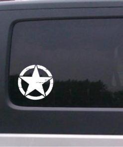 Jeep distressed star window decal sticker