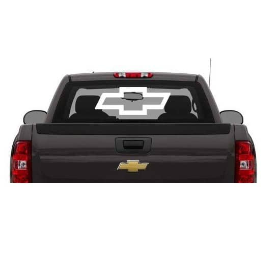 Chevy Chevrolet Bowtie Rear Window Decal Sticker – Custom Sticker Shop