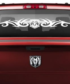 Dodge Ram Tribal Rear Window Decal Vinyl Decal Stickers