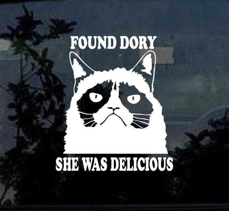 Finding Dory Grumpy Cat Vinyl Decal Stickers