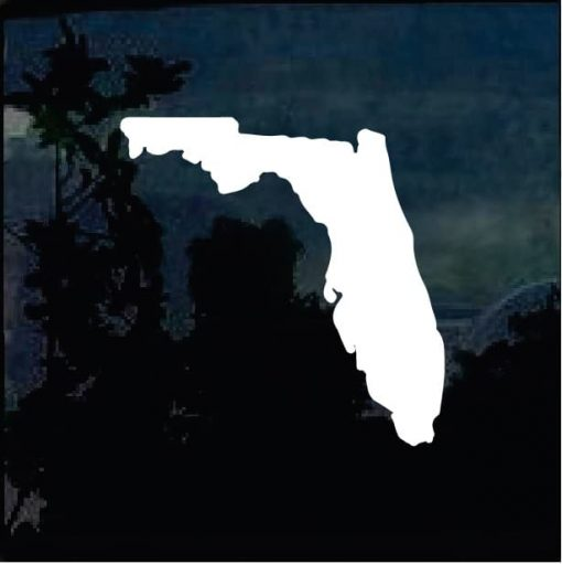 Florida State Silhouette Vinyl Decal Stickers