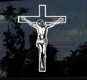 Jesus on Cross Vinyl Decal Stickers a2