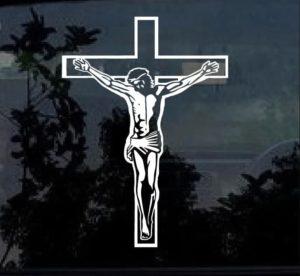 Jesus on Cross Vinyl Decal Stickers a2