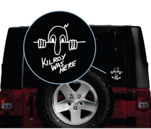 Kilroy was here jeep window decal sticker 1