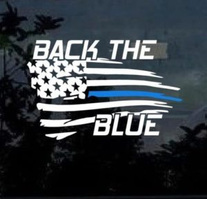 Back the Blue Window Decal Sticker