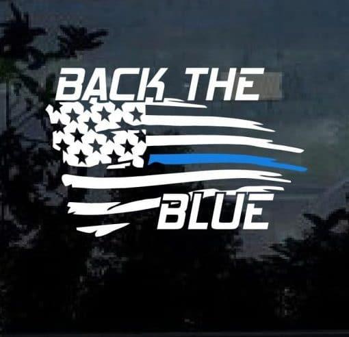 Blue Lives Matter Sticker Back The Blue Decal Custom