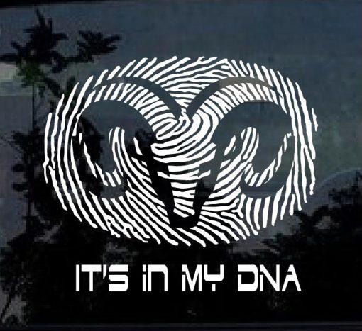 Dodge it's in my DNA Fingerprint Decal Sticker