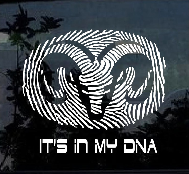 Dodge it's in my DNA Fingerprint Decal Sticker