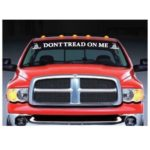 Dont Tread on me Gadsden Flag Windshield Banner Decal Sticker