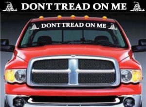 Dont Tread on me Gadsden Flag Vinyl Windshield Banner Decal Stickers