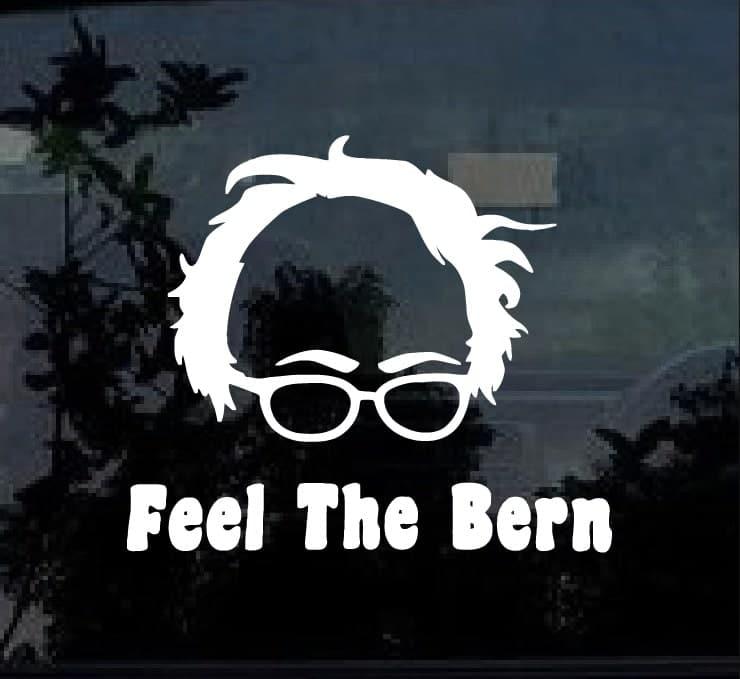 Feel the bern Bernie Sanders Vinyl Decal Sticker