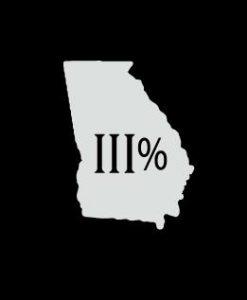 Georgia 3 percenter Vinyl Decal Stickers