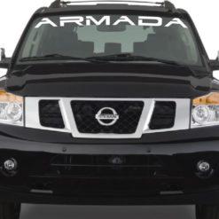 Vinyl Windshield Banner Decal Stickers Fits Nissan Armada