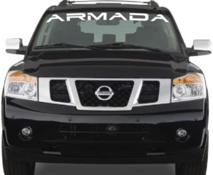 Vinyl Windshield Banner Decal Stickers Fits Nissan Armada