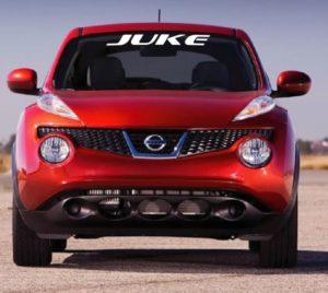 Vinyl Windshield Banner Decal Stickers Fits Nissan Juke